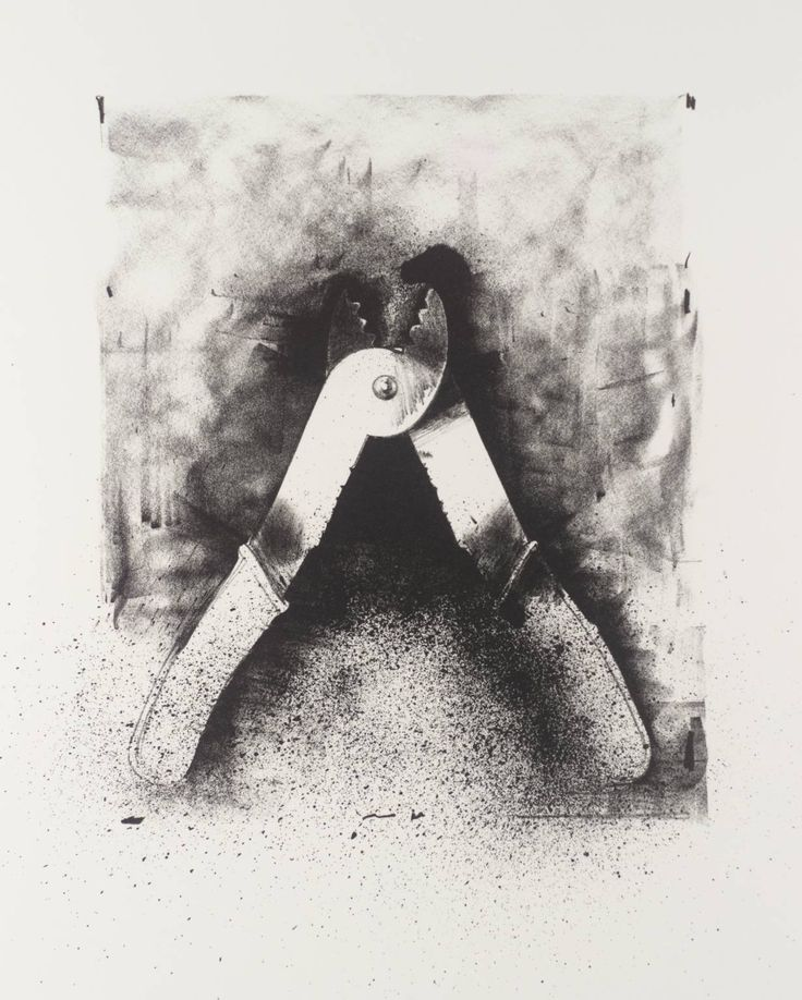 jim dine - untileted, from 'ten winter tools', lithograph on paper, 1973.