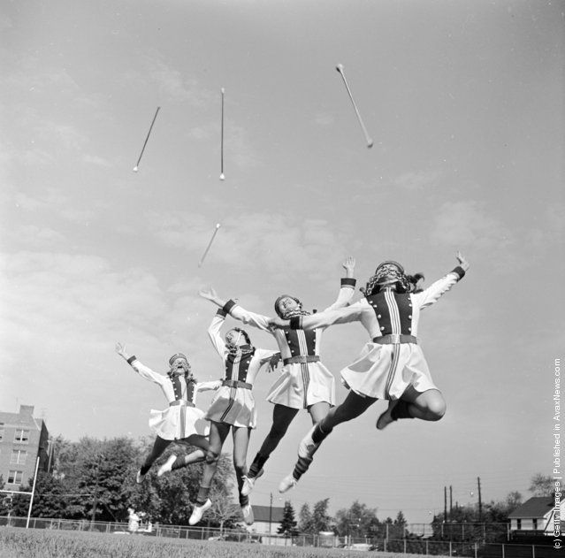 Photos of Majorettes in an American High School, circa 1954 (Photos by Orlando /Three Lions/Getty Images)