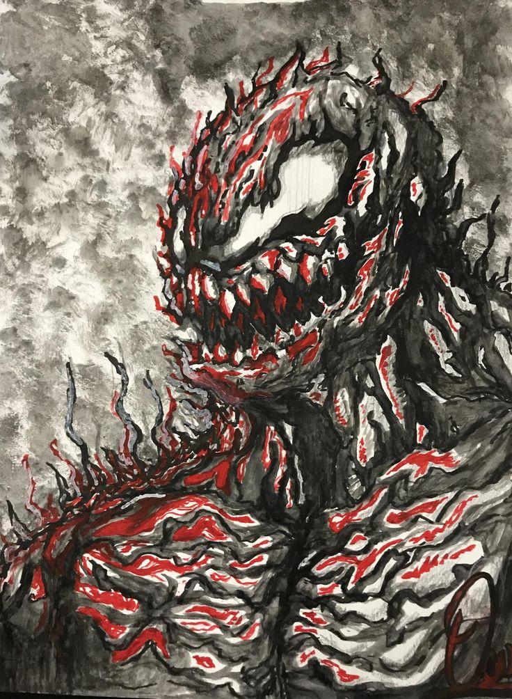 Maximum Carnage Ink and Paintbrush 12x8 http://ift.tt/2DD8wlp