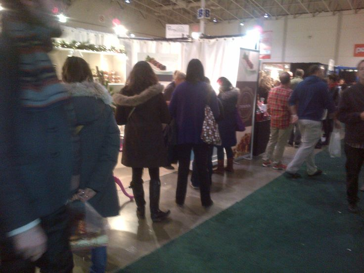 They can't wait to get in our Booth.  One of a Kind Christmas Show