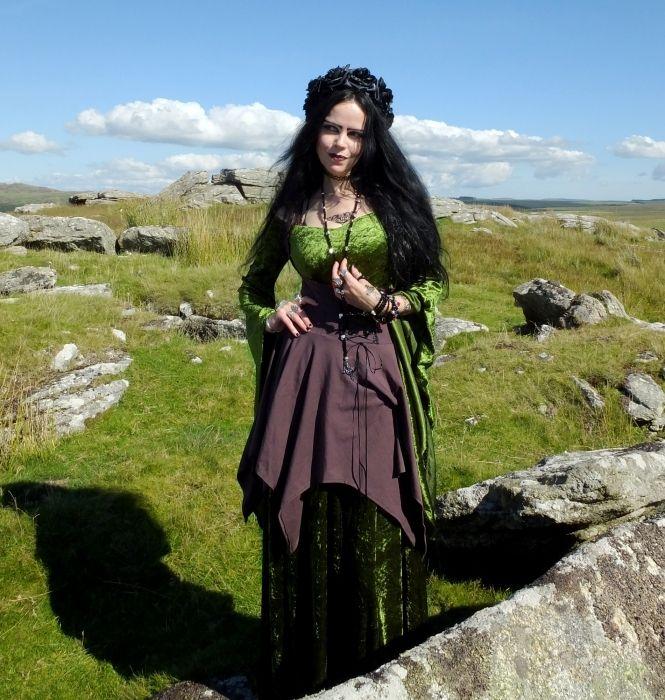 Goldberry Underbust Cotton Minidress by Moonmaiden Gothic Clothing UK