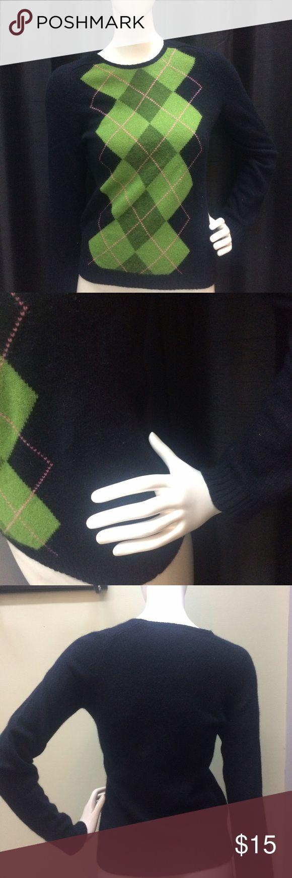 J. Crew Argyle Sweater J. Crew argyle sweater | wool & angora | navy blue J. Crew Sweaters Crew & Scoop Necks