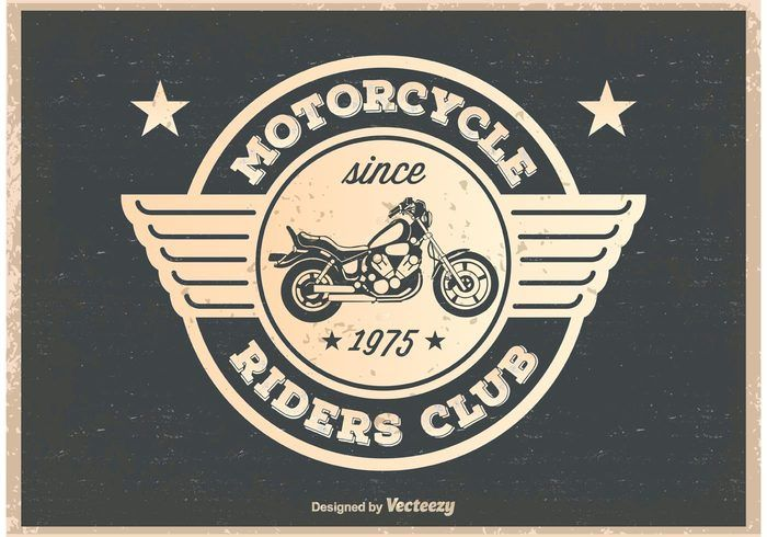Free vector Vintage Motorcycle Riders Poster #27516