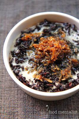 The Food Mentalist: Black Sticky Rice & Caramelised Coconut Pudding