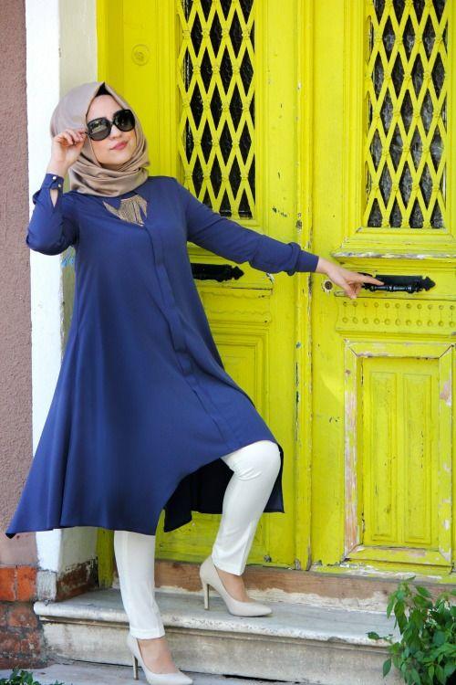 Seval Style Aral Lacivert Tunik :: AVM81 Online Alışveriş Merkezi