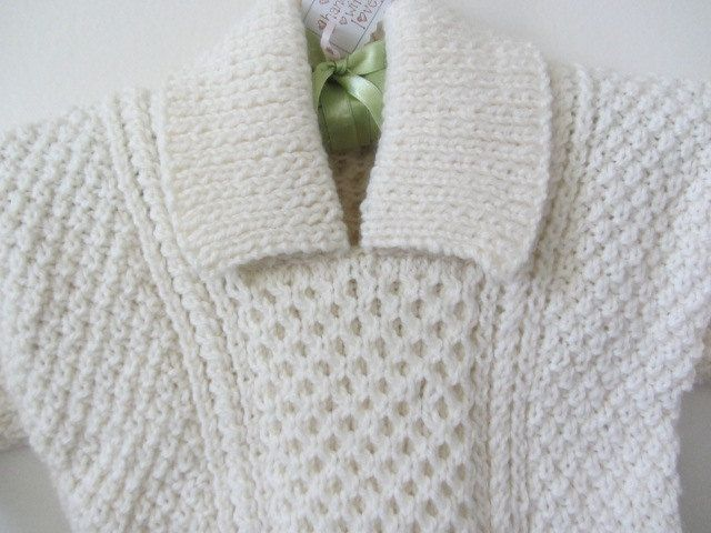 Soft Irish Aran Hand Knit Sweater boys hand knit sweater girls hand knit sweater baby hand knit sweater St Patricks baby  9-18 months. by lovesknitting on Etsy