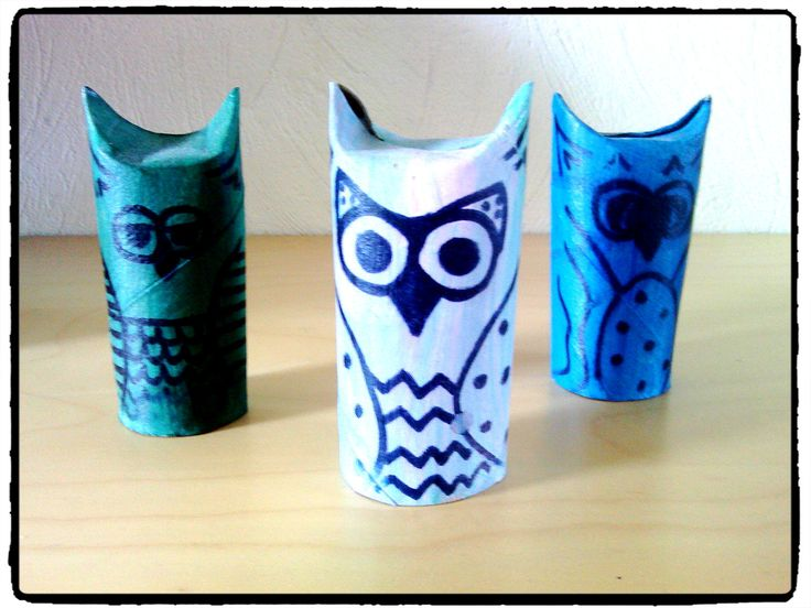 hibou rouleau de papier wc bricolage enfant animaux pinterest bricolage. Black Bedroom Furniture Sets. Home Design Ideas