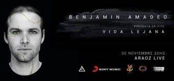 Benjamín Amadeo presenta en vivo #VidaLejana   El compositor cantante y actor Benjamín Amadeo presenta en vivo su álbum VIDA LEJANA el 30 de noviembre en Araoz Live (Aráoz 2424 C.A.B.A.). Y ya se agotó la pre-venta de la fecha con gran éxito al poco tiempo de ser anunciado el show en sus redes sociales. Ahora comenzó la venta general y podes conseguir las entradas enhttp://ift.tt/2ebG5zo  Además sumó dos fechas en Córdoba el 24 de noviembre en el Teatro Quality y el 26 de noviembre en Elvis…