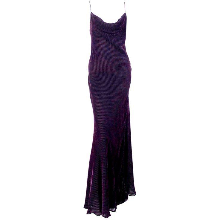 1stdibs - Rare Helen David English Eccentrics silk velvet bias cut gown explore items from 1,700  global dealers at 1stdibs.com