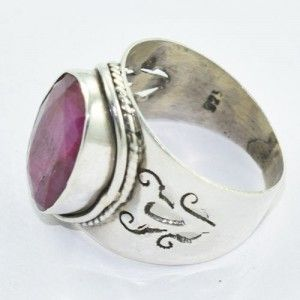 #Royal #Ruby #Gemstone 925 Sterling Silver #Ring from Akrati Jewels Inc