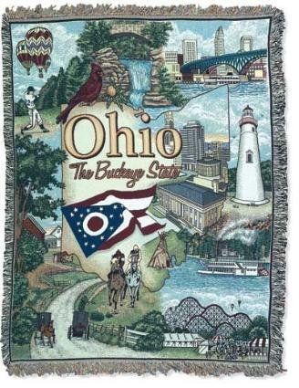 Ohio The Buckeye State Tapestry Throw Blanket - With Love Home Decor