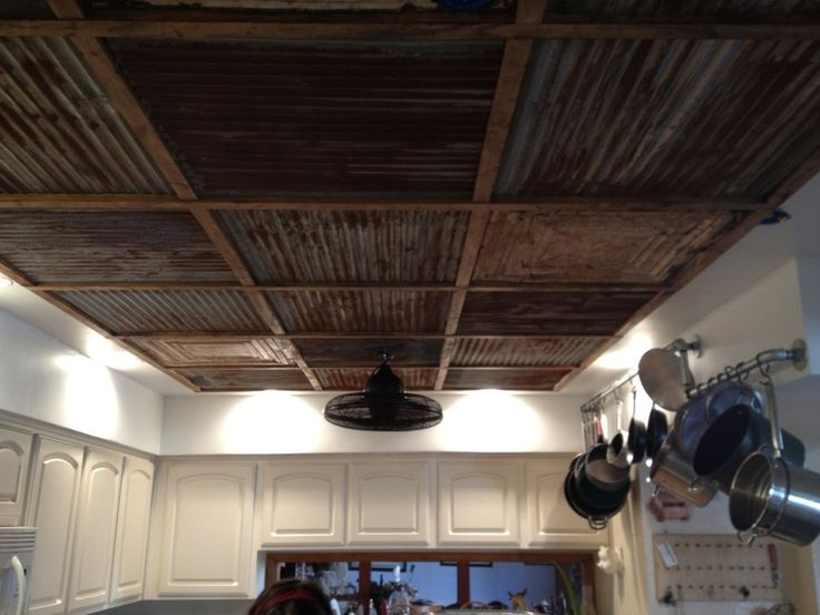 Corrugated+Tin+Ceiling | View topic - Corrugated metal ceiling
