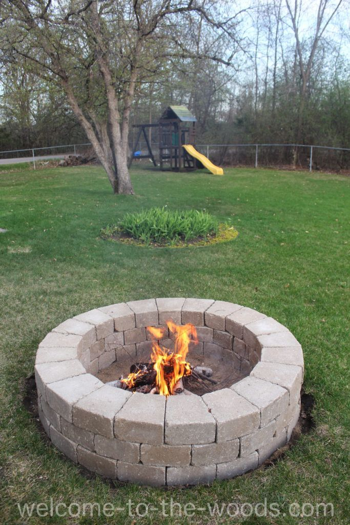 Build Your Own Fire Pit Fire Pit Make A Fire Pit Fire Pit Yard
