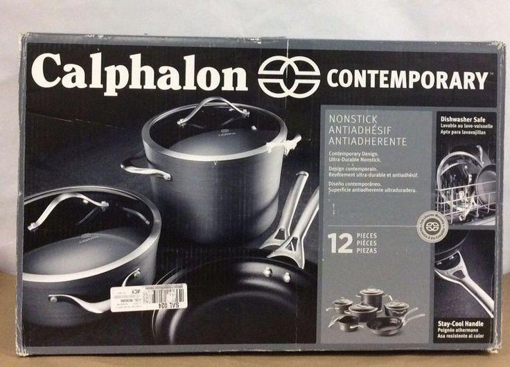 Calphalon Contemporary Nonstick 12-Piece Cookware Set. Dishwasher Safe