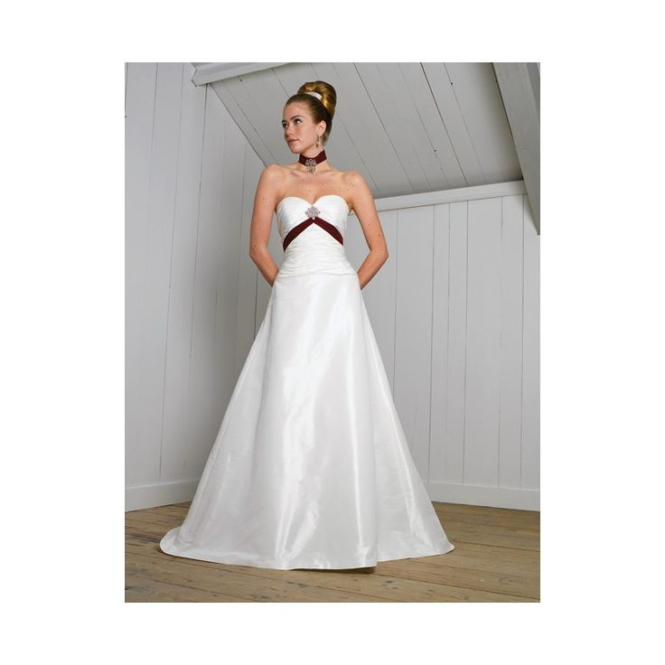taffeta wedding dresses red and white wedding dress with red trim