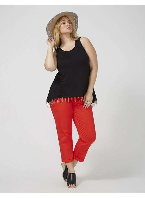497b2cc8126 40 Classic Stretch Crop Tank Outfits For Your Daily On This Fall ...
