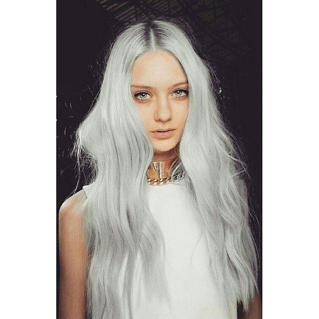 Adore ♡ #greyhair #hair #silverhair #blonde #whitehair #girl #model #models #weheartfashion #iheartit #weheartit #tumblr #kik #pinterest #stylight #instacofd #polyvore #fashion #fashionista #fashionblogger #fashiolista #fashionblog #blogger #blog #fblogger #makeup