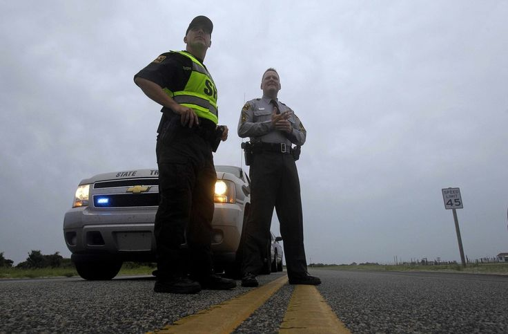 Griffin, with the North Carolina State Highway Patrol, guard the north ...