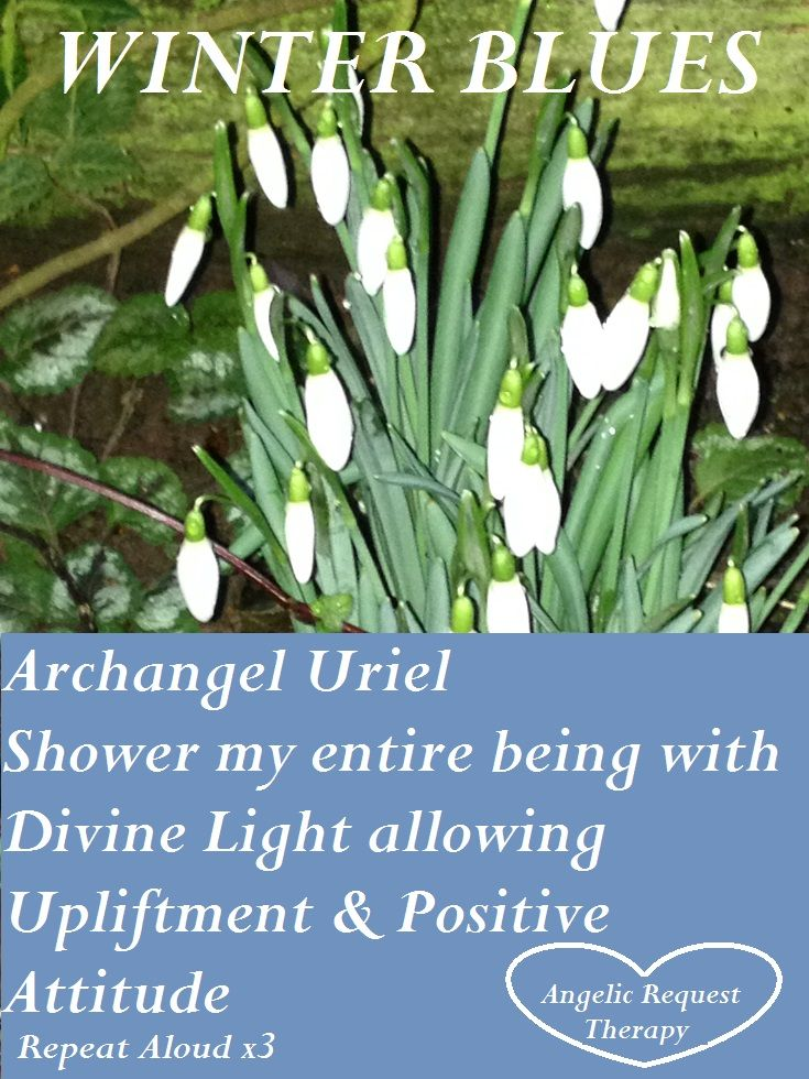 Do you suffer with Winter Blues? Allow the mighty Archangel Uriel to raise your vibration!