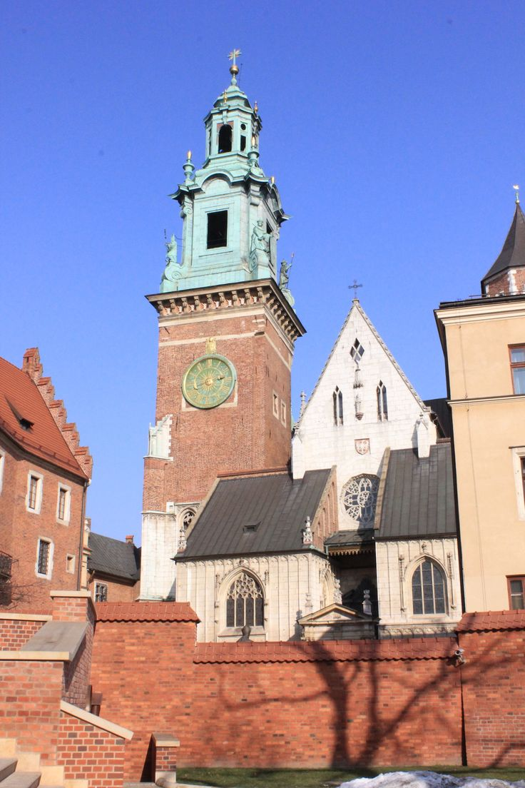 The famous bell tower in Krakow from the Cathedral on Wawel Hill #travel #travelpics