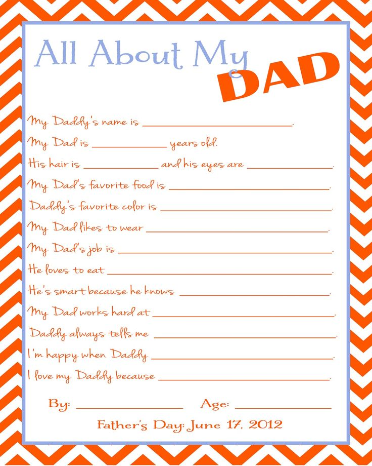 Free Father's Day Printable Questionnaire: Gifts Ideas, Free Father, Father Day Gifts, Fathersday, Fathers Day, Father'S Day, My Dads, Kid, Printable Questionnaire