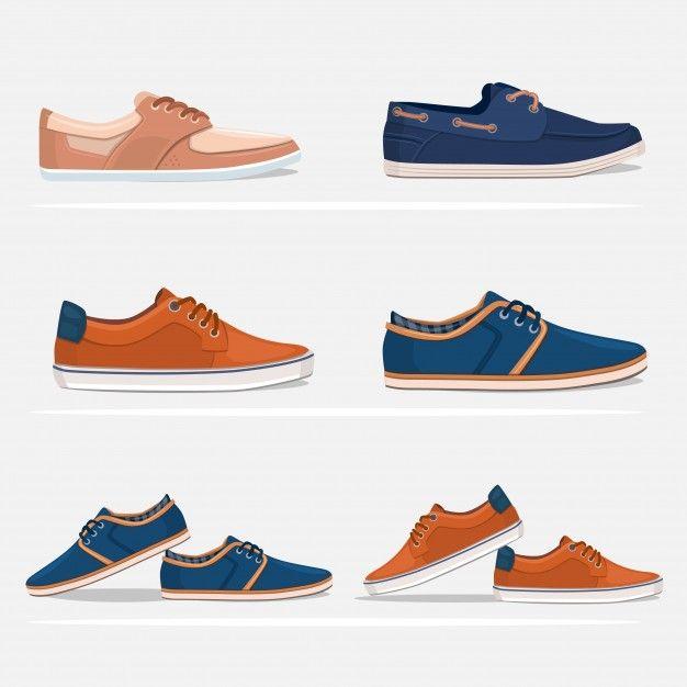 Men shoes set Free Vector