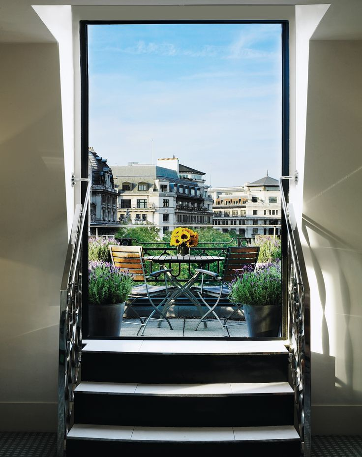 A splended view over the rooftops of London from the balcony of Suite 500
