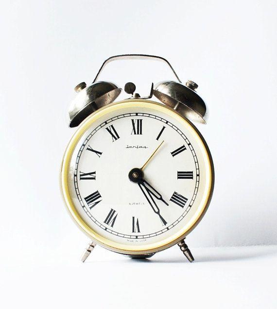 Russian mechanical alarm clock