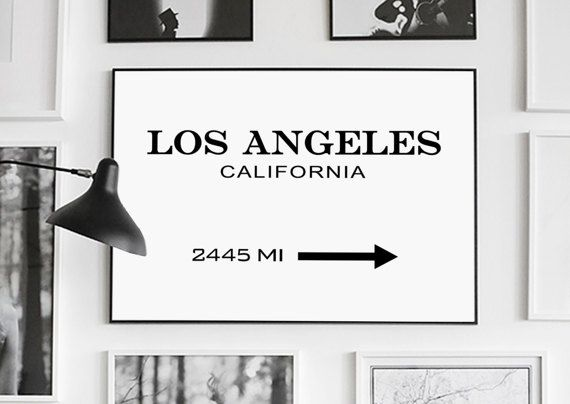 Los Angeles Prada Marfa Print Los Angeles by GalaDigitalPrints
