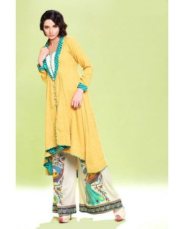 I LUV Designer - 3 Piece Zahra Ahmad Pakistani Formal Party Wear Dress Winter Collection 2014 - Pakistani Dresses Latest Fashion