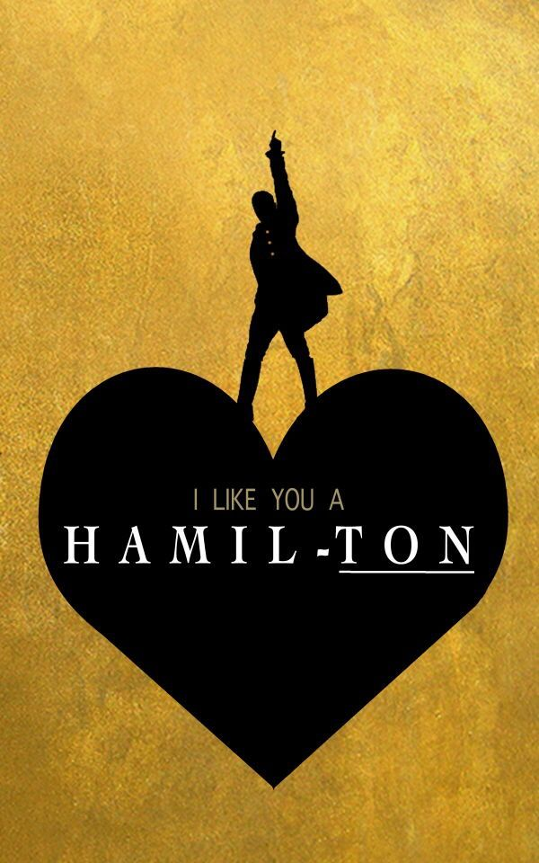 Hamilton Valentine's Day e-card designed by me!
