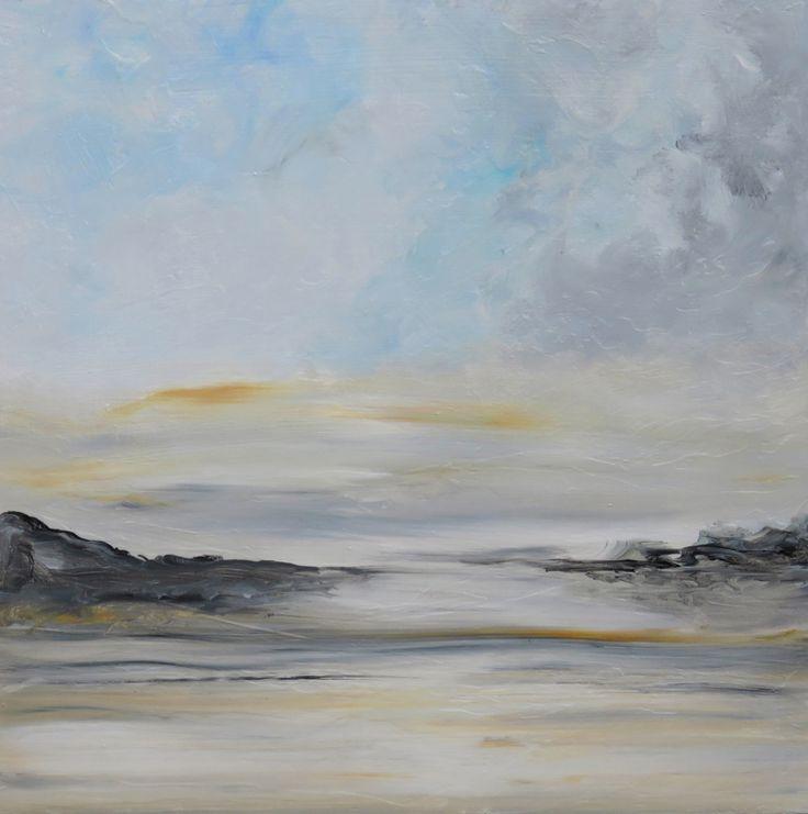"Awaken I 16""x16"" Original painting by Jenn www.jennwilliamson.com"