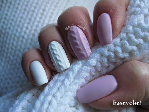 Manicure Hybrydowy - 3D Cable Knit Sweater - Sweterek - Semilac 056, 001 - YouTube