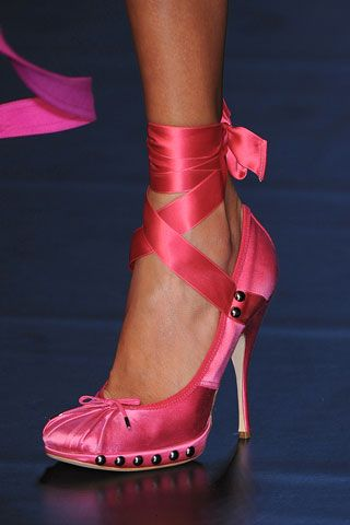 Jean Paul Gaultierss- pink shoe..  Oh me o my o... Let me show how much I love these...