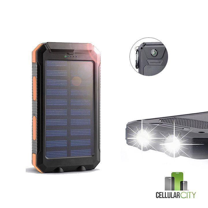 Disponibles las Baterías Solar Portátil. 30000 mha resistente al agua brújula y linterna. Precio $34.99 info 787-241-4868 #cellularcitypr #powerbank #solarpanels #solarbattery