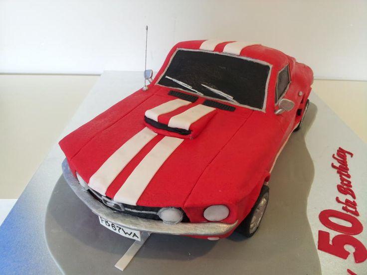 Best Mustang Cake Ideas On Pinterest Car Cake Tutorial