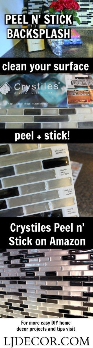 DIY Peel 'N Stick Tile Backsplash: DOES IT REALLY WORK!? Before+After & Tips! - LJDECOR