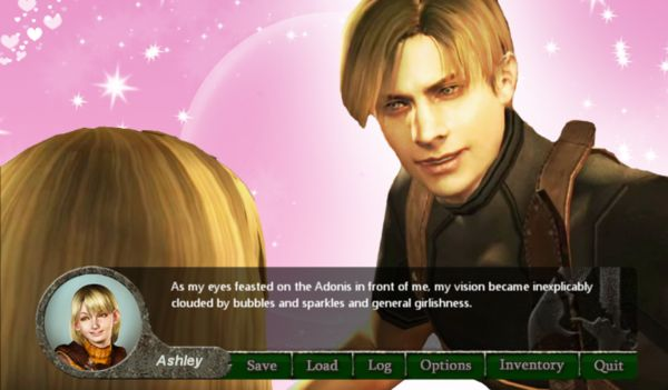"Fan game explores the dating side of Resident Evil with ""Resident Evil 4: Otome Edition""   2004. It was the year when millions of players assumed the role of rookie cop-turned-secret agent Leon S. Kennedy as he traveled to rural Spain in pursuit of Ashley Graham the president's missing daughter. A watershed moment in gaming Resident Evil 4 was a reinvention of both its series and its genre - not to mention one hell of a party.  More importantly Leon had amazing hair. Oh and he flipped over…"
