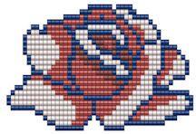 Rose Medallion Pattern - Item Number 16368 at Bead-Patterns.com