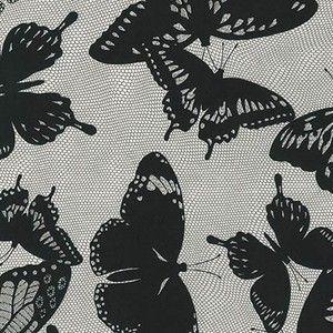 Jennifer Sampou - Black and White - Butterfly Netting in Smoke