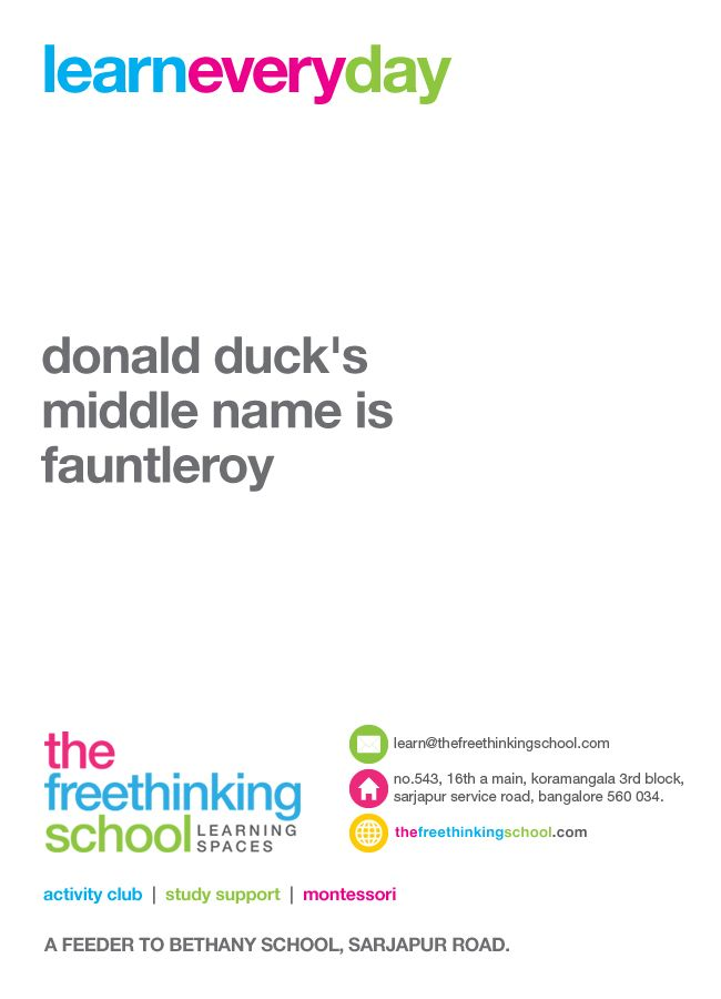 donald duck's middle name is fauntleroy