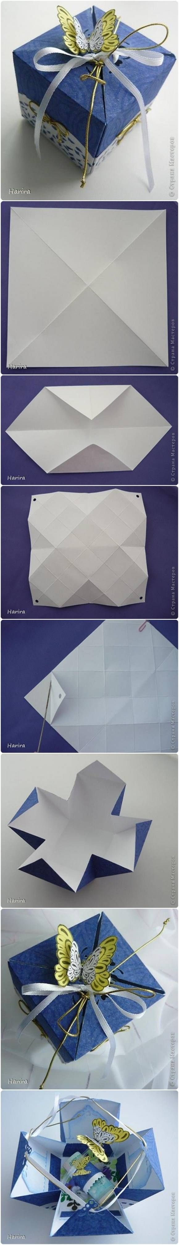 DIY Pretty Origami Gift Box