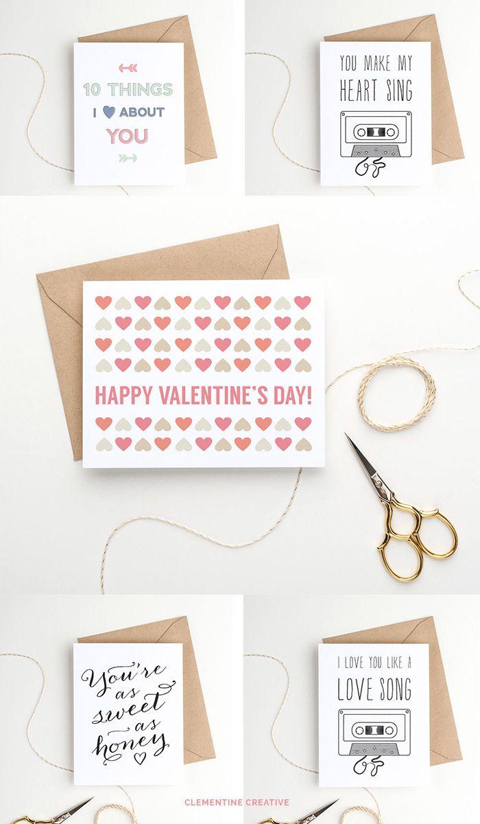 印刷可能なバレンタインデーカード