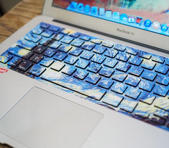 Sticker pour clavier : La Nuit Etoilée (Van Gogh)