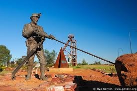 Maybe Cobar, NSW is a good place to get to because it's in the middle of nowhere!