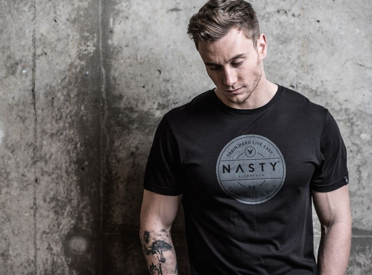 Fitted Circle T-Shirt by Nasty Lifestyle.  Get yours today!  CrossFit Apparel, Gym Apparel, Fitness Apparel, Mens Lifestyle,