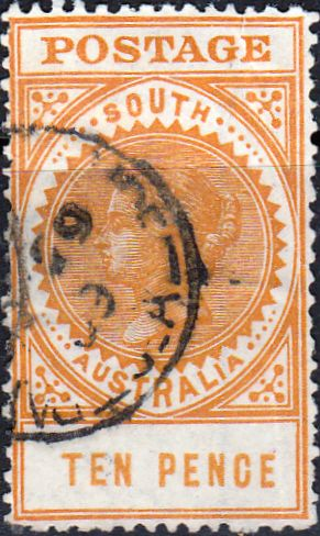South Australia 1904 Long Tom SG 287 Good Used SG 287 Scott 139a Other Australian Stamps here