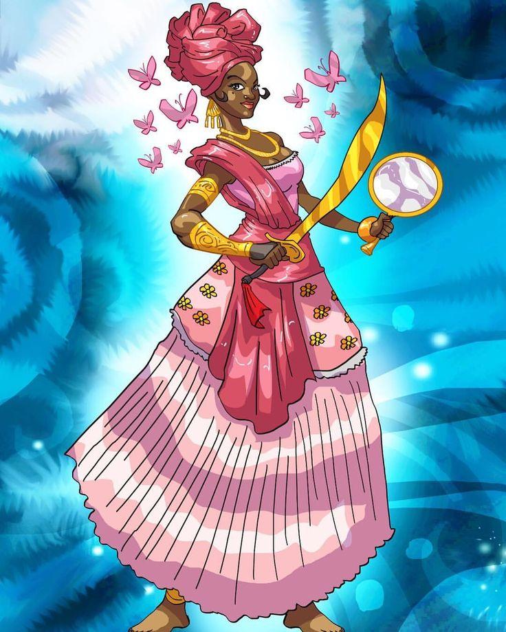 #onira #IAnsa #oya #oxum #yoruba #ifa #irunmole #umbanda #vudu #tarot #project #vudutarot #illustration #art #artstagram #artistsofinstagram #brazilian #cuban #orisha #orisa #orixa #god #deity