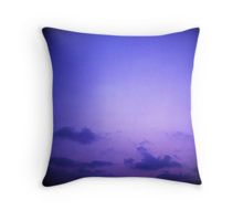 Clouds in sky in blue purple dusk sunset evening in Ibiza summer Hasselblad square medium format film analogue photo Throw Pillow