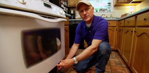 Watch this video for a simple tip that allows you to clean between the double glass panes on an oven door without having to take the oven door apart.